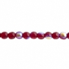 Czech Druk Beads 4mm Transparent Garnet Aurora Borealis